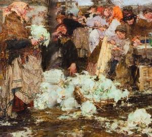 """Das Gemälde """"Kohlmädchen"""", Nikolai Ivanovich Feshin – Beschreibung"""