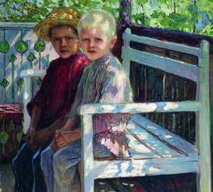 """""""Kinder"""", Bogdanov-Belsky – Beschreibung des Gemäldes"""