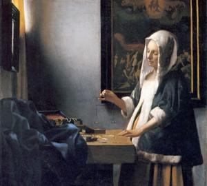 """""""Woman Weighing Pearls"""", Jan Vermeer – Beschreibung des Gemäldes"""