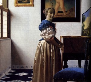 Jungfrau Maria, Jan Vermeer – Beschreibung des Gemäldes