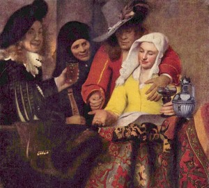 """""""At the Roll"""", Jan Vermeer Delft – Beschreibung des Gemäldes"""