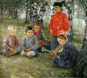"Bogdanov-Belsky, ""Virtuose"" – Beschreibung des Gemäldes"