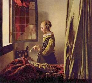 """""""Mädchen liest einen Brief am offenen Fenster"""", Jan Vermeer – Beschreibung des Gemäldes"""
