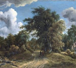 Straße im Wald, Meindert Hobbem, 1670