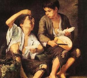 Jungen mit Trauben und Melone, Bartolome Esteban Murillo