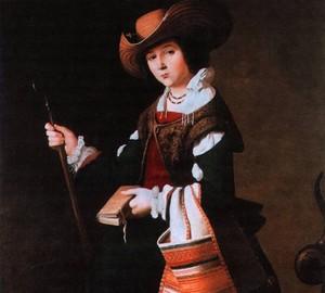 """""""Hl. Margarete von Antiochia"""", Francisco de Zurbaran – Beschreibung des Gemäldes"""