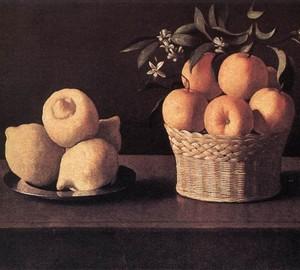Stillleben mit Zitronen, Orangen und einer Rose, Francisco de Zurbaran – Beschreibung des Gemäldes