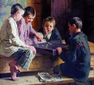 """""""Zwischen den Stunden"""", Bogdanov-Belsky – Beschreibung des Gemäldes"""