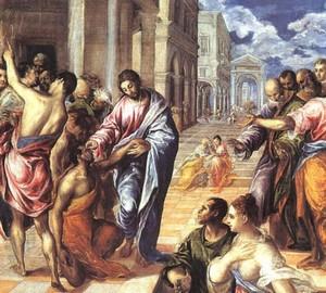Die Blinden heilen, El Greco