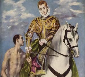 """""""Der Heilige Martin und der Bettler"""", El Greco – Beschreibung des Gemäldes"""