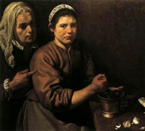 Christus im Haus von Martha und Maria, Diego Velazquez – Beschreibung des Gemäldes