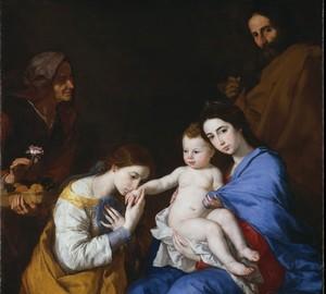 """""""Die Heilige Familie mit der heiligen Katharina"""", Hussepe de Ribera – Beschreibung des Gemäldes"""