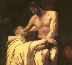 """""""Bernhardiner, Christus umarmend"""", Francisco Ribalta – Beschreibung des Gemäldes"""
