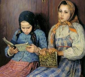 """""""Schüler"""", Bogdanov-Belsky – Beschreibung des Gemäldes"""