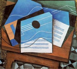 """""""Gitarre auf dem Tisch"""", Juan Gris – Beschreibung des Gemäldes"""
