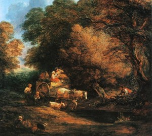 Markt-Lastwagen, Thomas Gainsborough, 1786