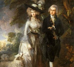 Porträt von Herrn und Frau Hallett (Morning Walk) – Thomas Gainsborough