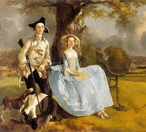 Porträt von Herrn und Frau Andrews, Thomas Gainsborough, 1750