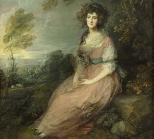 """""""Porträt von Frau Richard Brinsley Sheridan"""", Thomas Gainsborough – Beschreibung des Gemäldes"""