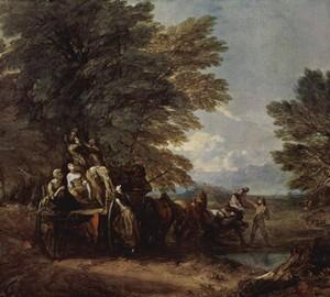 """""""Geerntet auf einem Wagen liegend"""", Thomas Gainsborough – Beschreibung des Gemäldes"""