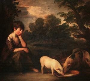 """""""Mädchen mit den Schweinen"""", Thomas Gainsborough – Beschreibung des Gemäldes"""