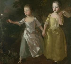 """""""Töchter eines Künstlers, der einem Schmetterling nachläuft"""", Thomas Gainsborough – Beschreibung des Gemäldes"""