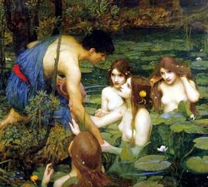 Gilas und Nymphen, John William Waterhouse – Beschreibung des Gemäldes