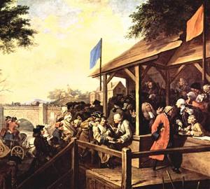 """""""Die Wahl. Abstimmung """", William Hogarth – Beschreibung des Gemäldes"""