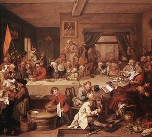 """""""Die Wahl. Treffen mit den Wählern """", William Hogarth – Beschreibung des Gemäldes"""