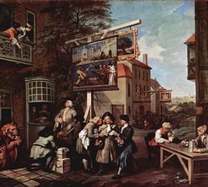 """""""Die Wahl. Bestechung der Stimmen """", William Hogarth – Beschreibung des Gemäldes"""