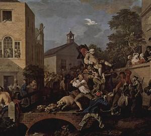 """""""Die Wahl. Der Triumph der siegreichen Partei """", William Hogarth – Beschreibung des Gemäldes"""