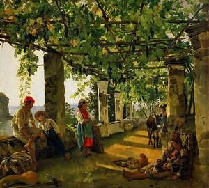 Veranda mit Trauben umwickelt, S. F. Shchedrin, 1828