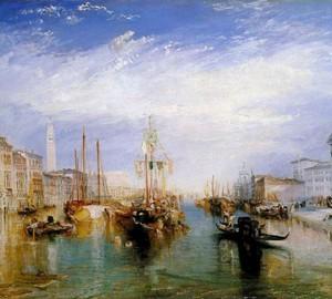 Ansicht des Canal Grande in Venedig – W. Turner, 1835