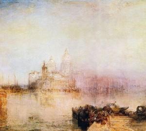 Ansicht von Venedig. Dogana und die Kirche Santa Maria della Salute – W. Turner