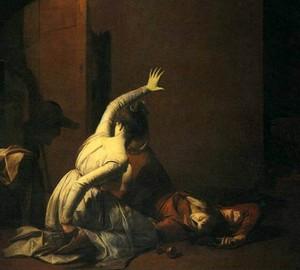 """""""Romeo und Julia: eine Szene im Grab"""", Joseph Wright – Beschreibung des Gemäldes"""