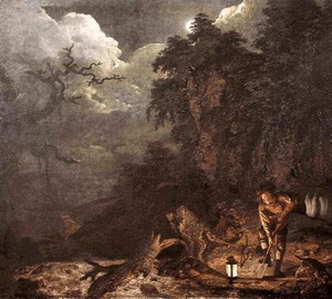 """""""Der Mann, der Löcher gräbt"""", Joseph Wright – Beschreibung des Gemäldes"""