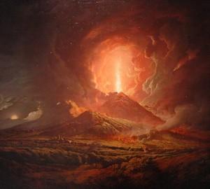 """""""Ausbruch des Vesuv"""", Joseph Wright – Beschreibung des Gemäldes"""