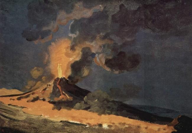 Umriss des ausbrechenden Vesuvs
