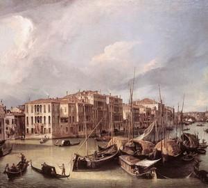 Canal Grande: Blick nach Nordosten auf die Rialtobrücke, Canaletto