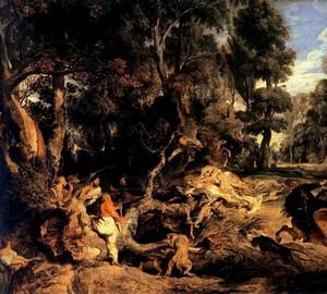 Wildschweinjagd, Peter Paul Rubens
