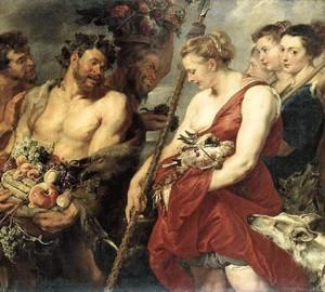 Dianas Rückkehr von der Jagd, Rubens