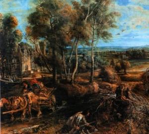 Herbstlandschaft mit dem Schloss von Stan, Rubens