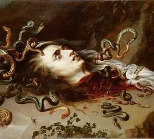 Gorgon Medusa Head, Rubens, 1618