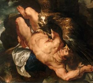 Verketteter Prometheus, Rubens – Beschreibung des Gemäldes