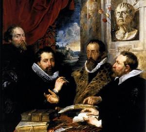 Vier Philosophen, Peter Paul Rubens – Beschreibung des Gemäldes