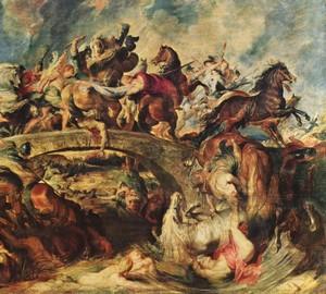 Kampf der Griechen mit den Amazonen, Peter Paul Rubens – Beschreibung