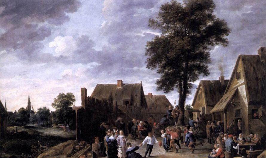 Ländlicher Urlaub im Halbmondkürbis, David Teniers der Jüngere, 1641