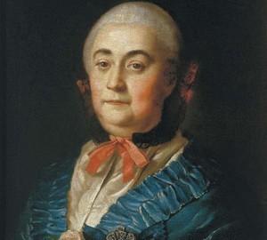 Porträt der Staatsdame Izmailova, Antropov – Beschreibung