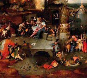 """""""Die Versuchung des heiligen Antonius"""", Jerome Bosch – Beschreibung des Gemäldes"""