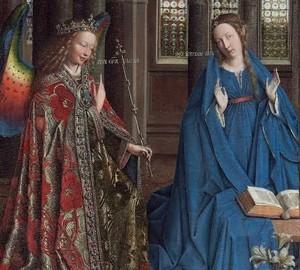 Die Verkündigung von Jan van Eyck – Beschreibung